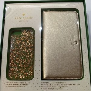 Kate Spade iphone case & wristlet